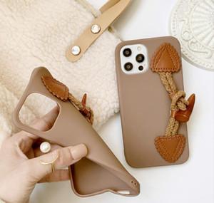 For Iphone 12 Mini 11 Pro Max 7 8 Plus Xr Xs X Se 2020 Phone Case Fashion Horn Buckle Soft T jllzBW infant2005