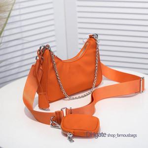 Multi pochette small pra nylon re edition 2005 shoulder crossbody bag high quality gold chain nylon bag sacs à main de luxe de concepteur