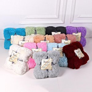 Blankets Soft Fur Faux Fluffy Throw Bed Sofa Bedspread Long Shaggy Soft Warm Bedding Autumn winterSheet Cozy free fast sea shipping GWF2503