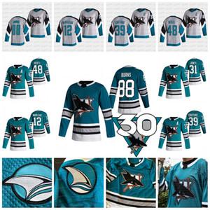 San Jose Sharks 2021 30e anniversaire patrimoine Patrick Marleau Jersey Logan Couture Evander Kane Brent Burns Martin Jones Tomas Hertl