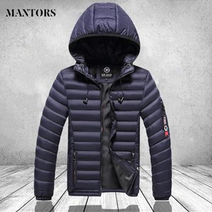 Autumn novel men's casual color uniform coat sweater fashion hat  hot winter duck down wearing oversized top spring coat