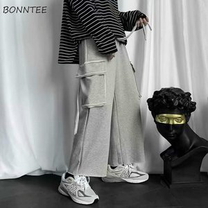 Men's Pants Men Casual Wide Leg Plus Size 3XL Korean Style Solid Straight Drawstring Loose Basic Trouser Spring Autumn Outwear Vintage