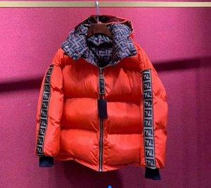 Nuevo diseñador abrigo abajo de la chaqueta de moda abrigo de mujer de lujo de lujo abrigo de invierno cálido doble f letra de doble cara de invierno camisa de invierno sexy temperamento