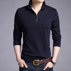 T-Shirts Men Solid Color Slim Fit Shirt Long Sleeve Tshirt Men's Casual T Shirts Brand Clothing