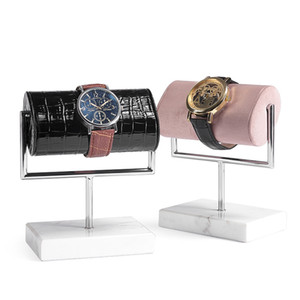 Luxury Watch Display Stand Marble Men's Wrist Watches Bracelet Holder with Cushion Pillow for Boutique Shop Showcase Cabinet Trade Fair