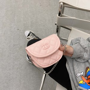 S709 Borsa di New Kids Designer Borse ragazze Mezzotondo Rhombus principessa Borse bambini Mini Single spalla Accessori Borsa Donne
