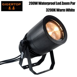 Freeshipping 200W Outdoor COB Led Zoom Par Light Warm White 3200K Cold White 6500K Aluminum IP65 Cover Waterproof Cooling Fan