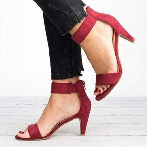 Jadavu Sandals Spring Women Pumps Thin High Heel Open Toe Zipper Suede Leopard Platform Office Ladies Sandal Shoes Sapato Feminino