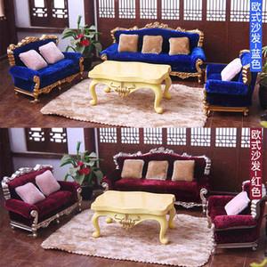 1/25 maison de poupées Bricolage Miniature Meubles Canapé Canapé Coussin Set Toy Model 1019