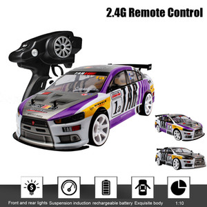 1:10 RC 70km h Remote Control Car 4WD Double Battery High Power LED Headlight Radio Machine Racing Truck Toys For Children