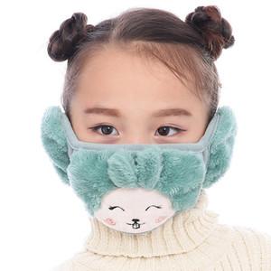 Дети мультфильм Медведь маска зима теплого Плюшевый рот маску с Наушниками для Маски Мальчики Девочки Детей Cartoon Face