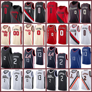 Damian Kawhi 0 Paul Lillard George 2 13 Leonard Carmelo 2021 new Basketball Jersey Los 00 Anthony Angeles Jerseys