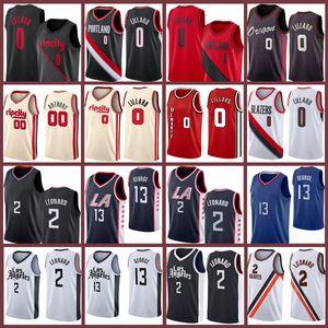 Damian Kawhi 0 Paul Lillard George 2 13 Leonard Carmelo 2021 New Basket Ball Baskey Los 00 Anthony Angeles Jerseys