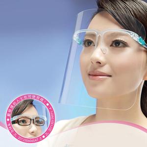 Face Shield Mit Glas-Rahmen-Antibeschlag-Isolation Masken 360-Grad-Schutz Anti-Splash Anti-Öl wiederverwendbare Gesichtsmaske EWC3155