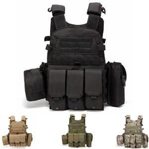 Molle Vest Outlife Exército USMC Armadura Tactical Vest assalto do combate placa de suporte Swat Caça Pesca