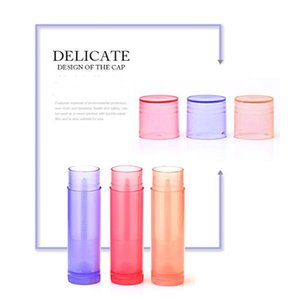 5 Pcs Plastic Lip Balm Tube Colourful Fashion Lipstick Bottle With Caps Container Glue Stick Clear Travel Empty Bottle 5ml Swy sqcsFt