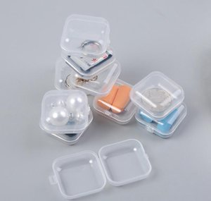 Square Empty Mini Clear Plastic Storage Containers Box Case With Lids Small Box Jewelry Earplugs Sto jllfCr sinabag