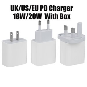 USB Wall Charger 20W 18W Power Delivery PD Quick Charger Adapter TYPE C Charger US UK EU Plug Fast Charging Cable for Samsung Smatphone