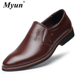 Classic Business Men's Dress Shoes Fashion Elegant Formal Wedding Shoes Men Slip On Office Oxford For Men Black Brown