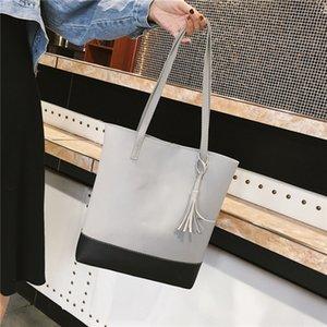 çanta Pu dayanıklı yüksek kapasiteli püskül kolye Pendant omuz çantası kadın Bir Omuz Satchel kadın çantası 4xQvT
