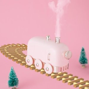 300ML Train Ultrasonic Humidifier USB Diffuser Air Diffuser Essential Electric Oil Fogger Mist Maker With LED Light Humidifier