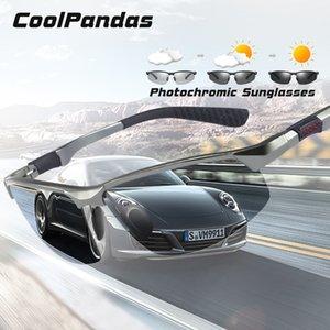 CoolPandas Marke Photochromic Sonnenbrille Männer polarisierten Chamäleon Male Sport Sun-Glas-Tag-Nachtsicht-Fahren Zonnebril heren 1007