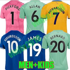 20 21 جيمس لكرة القدم الفانيلة Richarlison دوكور BERNARD 2020 2021 سيجوردسون دينيو ALLAN ANDRE GOMES بيكفورد عدة رجال الاطفال قمصان كرة القدم