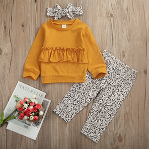 3PCS Children Newborn Set 2020 Infant Clothinge Baby Girl Clothes Set T-shirt Tops+Pants Leggings Fall Autumn Outfits