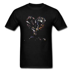 셔츠 셔츠 t 물고기 사랑 남성 잉어 검은 색 대답 페이드 인쇄 의류 가족 선물 사용자 정의 높은 품질 스웨터 코튼 까마귀 디자이너