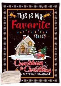 Рождество Одеяло мультфильма письмо напечатанного Одеяло Kids диван мягкого плюш Покрывало Thin QUILT Рождественского одеяло 130 * 150см CYF4516-1