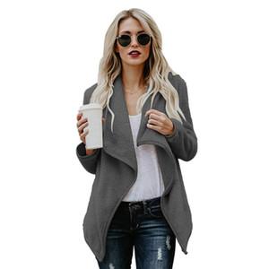 Women Casual Lapel Collar Long Sleeve Solid Autumn, Winter Coat Casual, Street, Outdoor, etc Outerwear