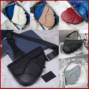 Luxury fashion saddle bag designer handbag leather handbag letter shoulder bag high quality leather saddle bag saddle shoulder bag