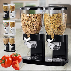 1  2 Gallons Single Double Cereal Dispenser Grain Oat Storage Container Kitchen Dry Food Snack Bottle Q1222