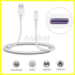 1M Typ C Kabel, 5A Supercharge Kabel für Huawei Samsung Moto LG USB-Kabel Typ C-Kabel USB-3.1-C Schnellladekabel