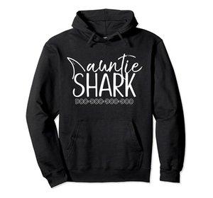 Тетушка Shark Doo Doo T Shirt рождественские подарки Тетя День рождения пуловер Толстовка унисекс Размер S-5XL с Цвет Черный / Серый / Синий / Королевский синий / Dark Heat