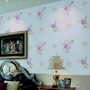 Coreano romântico flor papel de parede 3d estéreo PVC PVC Wallpaper Wallpaper quarto sala de estar morno estilo pastoral casa decorativa parede1