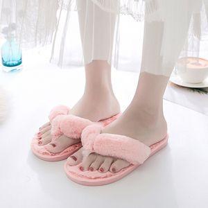 Bevergreen Inverno Pele Flip Flops Mulheres Casa Faux Peles Quente Chinelos Quarto Senhoras Sapatos Flat Girls Meninas Felry Chinelos 20125