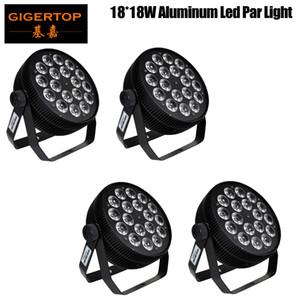 Gigertop 4 Pack LED par des lumières 18x18W DJ LED RGBWAP Par Lights Lavage Lavage Disco Light DMX Controller Effet for Petit Party KTV Éclairage