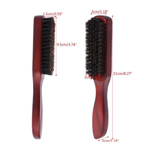 Hair Brush Wood Handle Boar Bristle Beard Comb Styling Detangling Straightening Ha bbyQtM