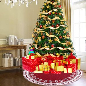 Christmas Gift Knitted Snowflake Deer Tree Skirt Christmas Tree Apron Decoration for Decorations Holiday Hogar