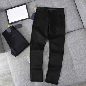 Moda Pantalones para hombres de la moda Pantalón de los hombres Ocio ocio - Resistente al frío y cálido - Estiramiento espesado Casual Alto Qulity Pantello simple Color Negro