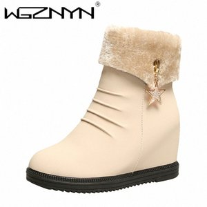 WGZNYN 2020 Women Snow Boots For Moman Shoes Heels Ankle Botas Mujer Keep Warm Platform Boots Female Winter Footwear AUVA#