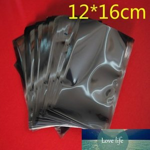 12*16cm Anti Static Shielding Plastic Packaging Bags ESD Anti-Static Storage Pack Bag Open Top Antistatic Poly Pouch 100Pcs Lot
