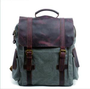 2020 New Retro travel bag, Canvas Backpack, men's leisure backpack, outdoor sports bag, schoolbag, computer bag