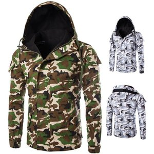 Mens Casual Camouflage Hoodie Jacket 2020 New Autumn Camouflage Print Clothes Men's Hooded Windbreaker Coat Male Outwear Jacket