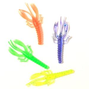 500pcs Soft Bait Shrimp Fishing Lure Set 5.5cm 0.8g Bionic Artificial Shrimp Bait Sea Fishings Tackle Mix Color