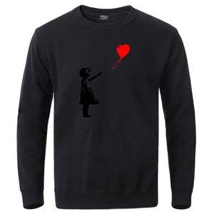 World Peace Hoodies Mens Crewneck Long Sleeve Sweatshirts Kcco Balloon Girl Banksy Love Sweatshirt Hoodie 2020 Winter Streetwear