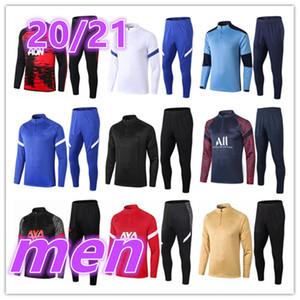 2020 2021 nuova mens formatori tuta sportiva di calcio 20 21 uomini di allenamento di calcio tuta da calcio pantaloni di formazione del rivestimento del vestito tute