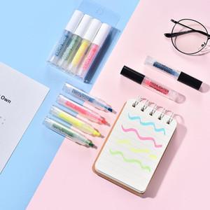 4шт Mini Lipstick Highlighter Ручки Set Портативный Флуоресцентные цвета Маркер Liner Pen для Highlight Paint Офис школы A6356