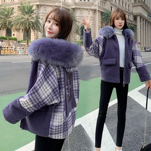Womens Add Wool Winter Jacket High-grade Lamb Autumn winter Thick Warm Plus Size Ladies Coats True Collars Polyester Material
